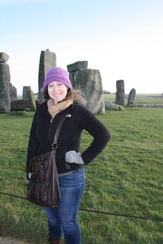 Hensley posing in front of Stonehenge.