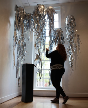 Meghan Lane with Installation Piece