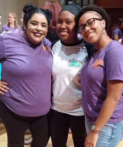 Berenice Rio (L) with her Big, Kiarra Avrey (center), and co-little, Destiny Mims (R)