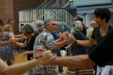Participants enjoying the Contra dancing event Sunday 5 Nov, 2017.