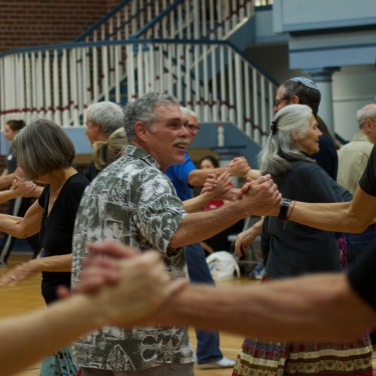 Participants enjoying the Contra dancing event Sunday 5 Nov, 2017.
